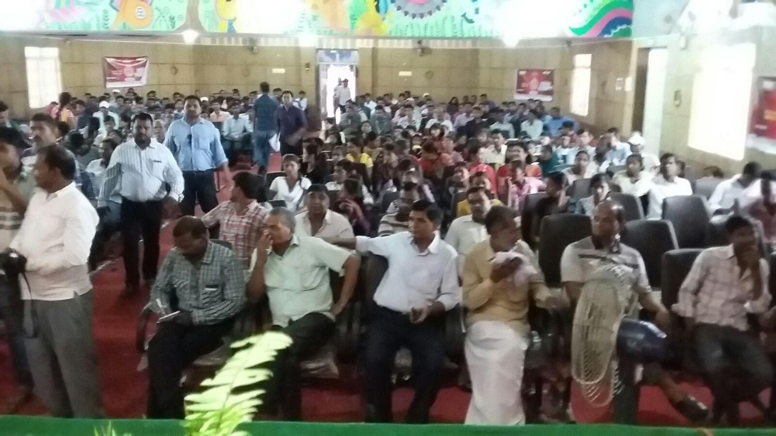 People attending Prabhat Khabar Pratibha Samman Samaroh at BNMU .