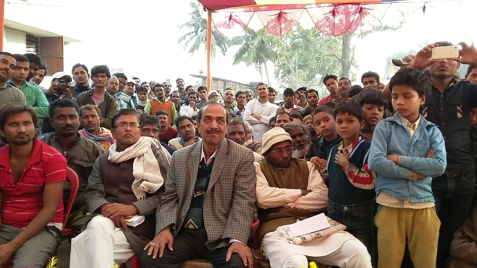 People at Kudratullah Shraddhanjali Sabha .