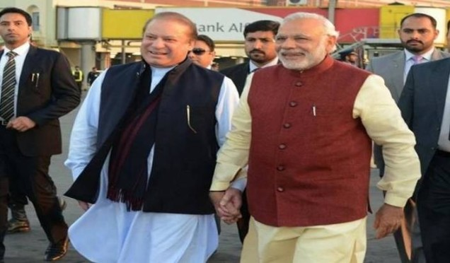 Modi with Nawaz Sharif in Pakistan