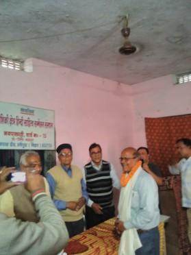 Kaushiki Kshetra Hindi Sahitya Sammelan Secretary Dr. Bhupendra Madhepuri, President Hari Shankar Shalabh, PVC K.K.Mandal, Vinay Kumar Choudhary and others
