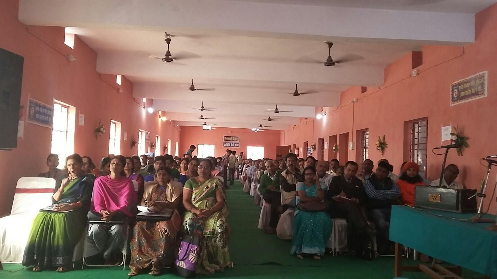 Research Scholars, Teachers & Audience present in the Seminar Hall of Madhepura College Madhepura .