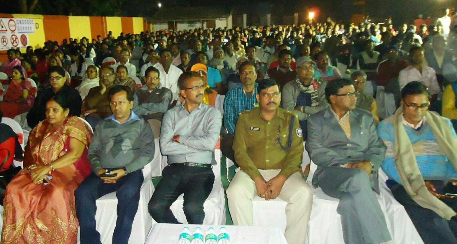 VIP Guests Sitting from L to R- Zila Parishad Adhyaksha Manju Devi, DPO Md.Q.Ansari, DM Md.Sohail, ASP Rakesh Kumar, Registrar Dr.B.N.Viveka and Samajsevi Dr.Madhepuri .