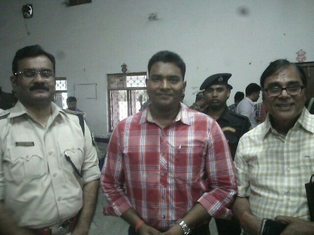 From L to R SP Vikas Kumar, SP Kumar Ashish & Dr.Madhepuri .