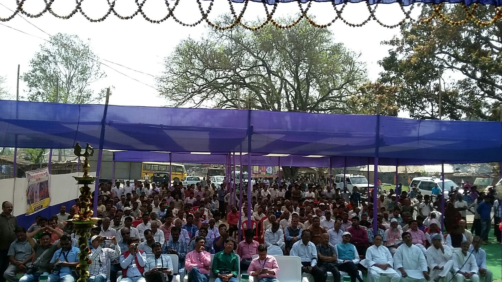 Audience attending the inaugural ceremony of Singheshwar Mela.
