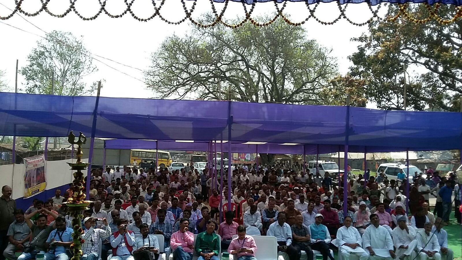 Audience attending the inaugural ceremony of Singheshwar Mela.