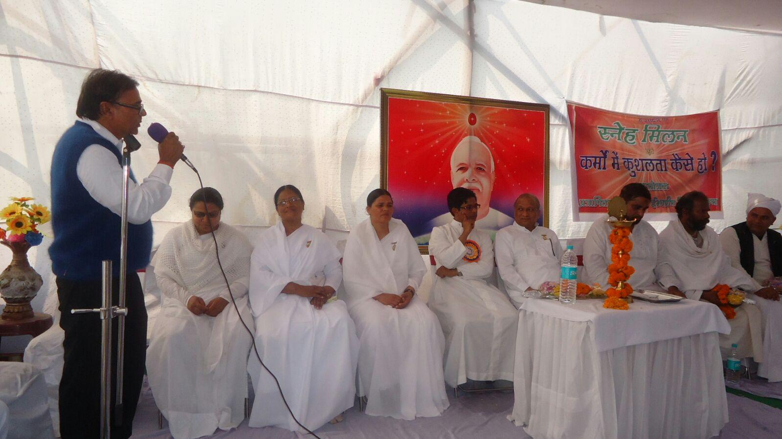 Dr.Bhupendra Madhepuri Addressing Sarv Dharma Sammelan and Sneh Milan Samaroh at Singheshwar, Madhepura