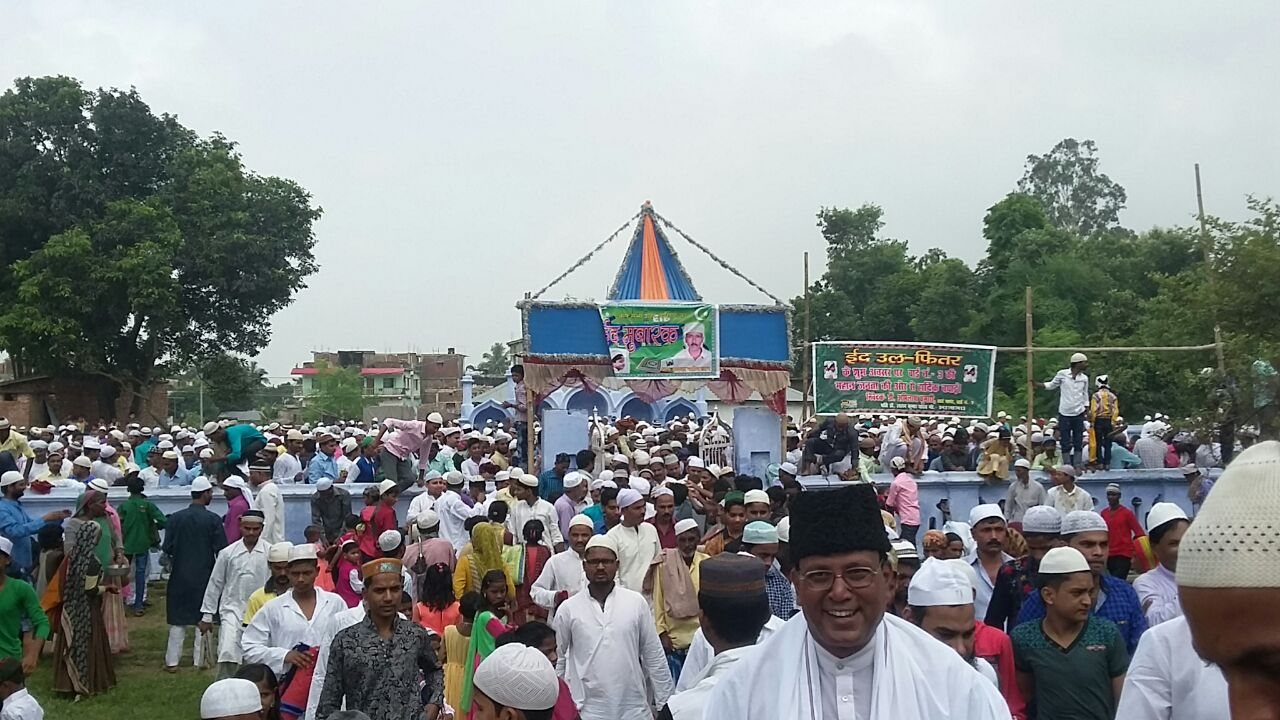 Huge Crowd after Eid Nawaj at Eidgaah Madhepura