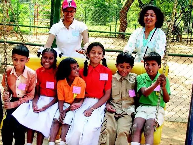 Kavita krishnamurti from Banglore designing the Park friendly for crippled children.