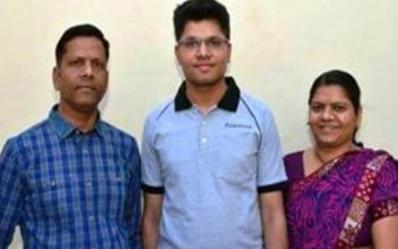 IIT Topper Kalpit Veerval with Parents