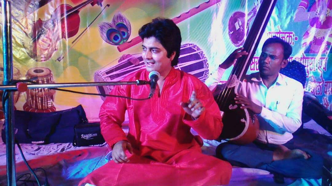The best performer of Classical Sangeet Mr.G.Mishra at Shri Krishna Mandir , Madhepura