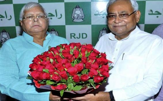 Happy Birthday Lalu jee with Nitish Kumar