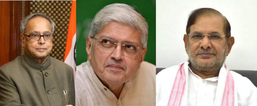 Probable Presidential Election-2017 Candidates Pranav Mukherjee, Gopal Krishna Gandhi and Sharad Yadav