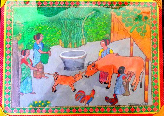 Aadivasi Bhitti Chitrakala