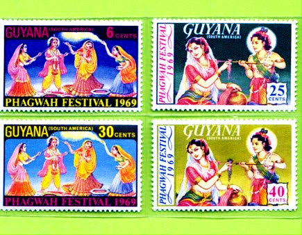 Guyana launched Indian Festival Postal Stamp