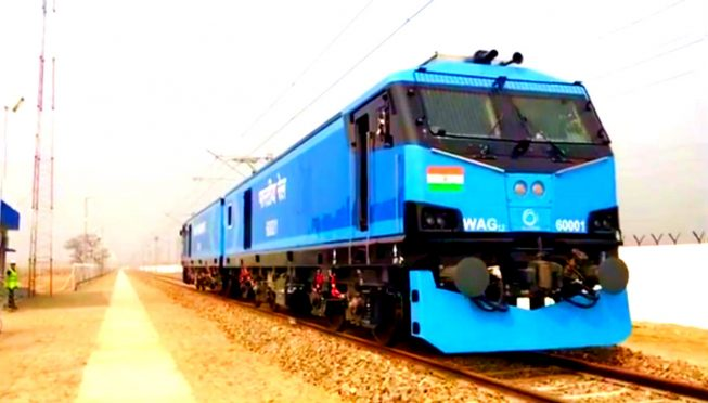 First Rail Engine from Alstom Madhepura Rail Engine Factory.