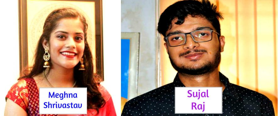 CBSE 12th topper Meghna Shrivastav and Sujal Raj