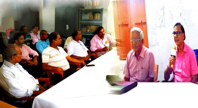 Educationist Dr.Bhupendra Madhepuri presiding over the meeting to celebrate BP Mandal Jayanti at National Level.