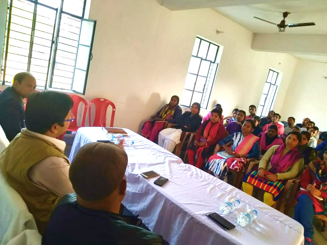 DM Navdeep Shukla along with SDM & DCLR answering the questions in BPSC Preparetary Class Room at Kishunganj Subdivisional Head quarter on Sunday.
