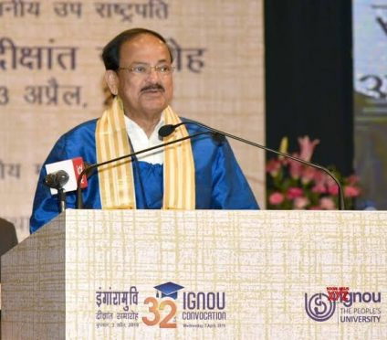 Venkaiah Naidu at IGNOU Convocation