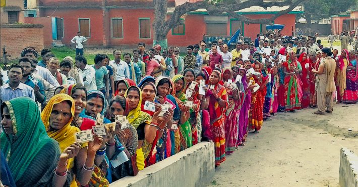 Voting at Madhepura