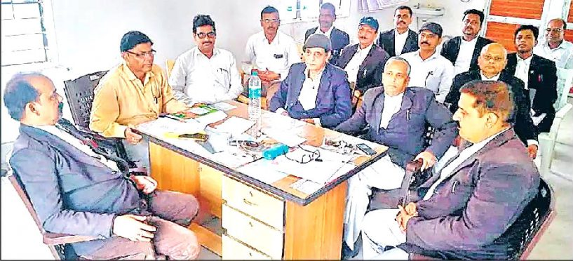 Lawyers of Madhepura session Court with Election officer.
