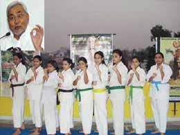 School girls Karate training Programme by Nitish Government.