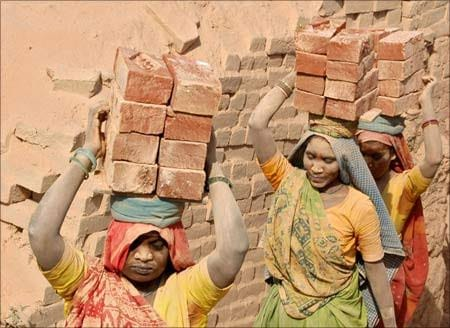 Labourers on Labour Day in India.