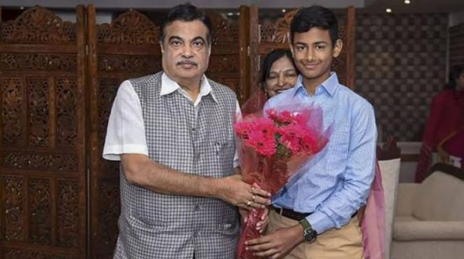 BS Revant Namburi with Surface Transport Minister Nitin Gadkari.