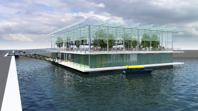 World's first floating dairy farm in Netherland.