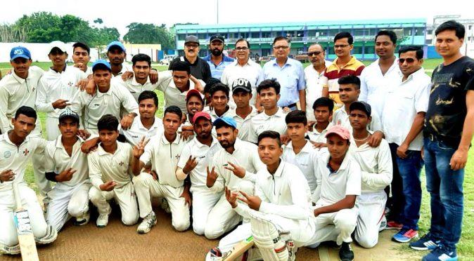 Cricket Match on the occasion of 115th birth anniversary on Major Dhyanchand at BN Mandal Stadium, Madhepura .