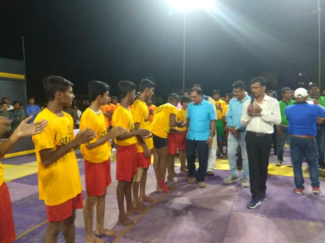 Udghatankarta Dr.Bhupendra Madhepuri encroaching Players.