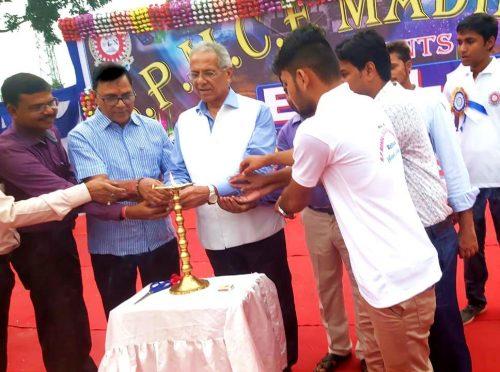 Samajsevi Sahityakar Dr.Bhupendra Narayan Yadav Madhepuri along with VC DR.A.K.Ray inaugurating Hindi Diwas Function at BP Mandal Engineering College, Madhepura.