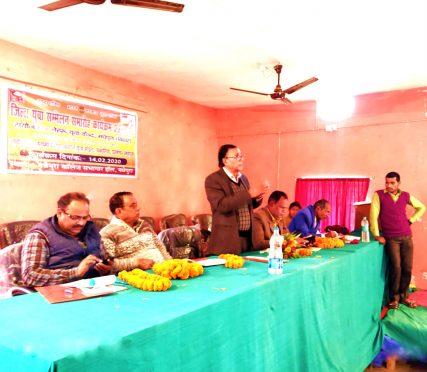 Dr.Bhupendra Madhepuri addressing in Nehru Yuva Kendra Programme at Madhepura College Madhepura.