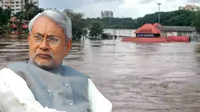 Nitish Kumar Government suspended 20 officers regarding flood in Patna.