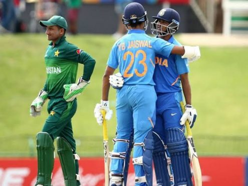 Under19 world cup cricket pakistan vs India.