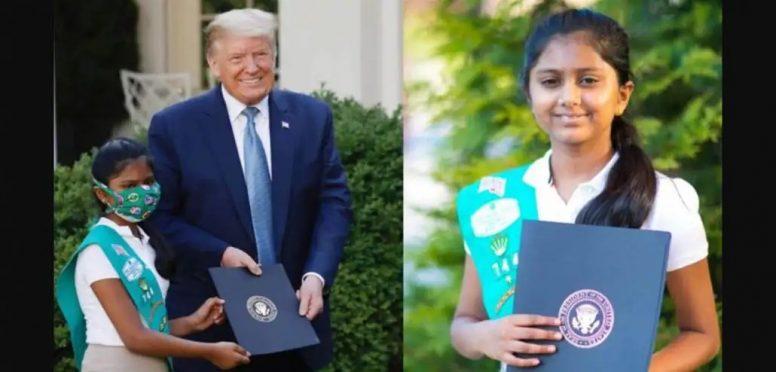 Shravya Annapareddi and Trump