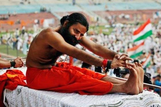 Swami Ramdev on Yoga Day.