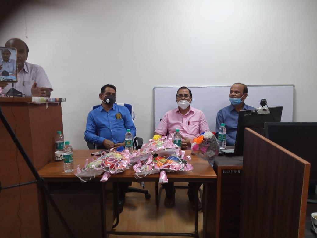 From LtoR VC Dr.Gyananjay Dwivedi, Samajsevi Dr.Bhupendra Madhepuri & Registrar Dr.Kapildev Prasad at BNMU.