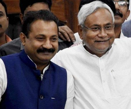 CM Nitish Kumar and Ashok Choudhary.