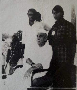 Former Prime minister Choudhary Charan Singh with Vijay Verma and Dr.Bhupendra Narayan Yadav Madhepuri at Madhepura.