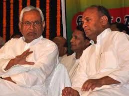 Nitish Kumar with RCP Singh