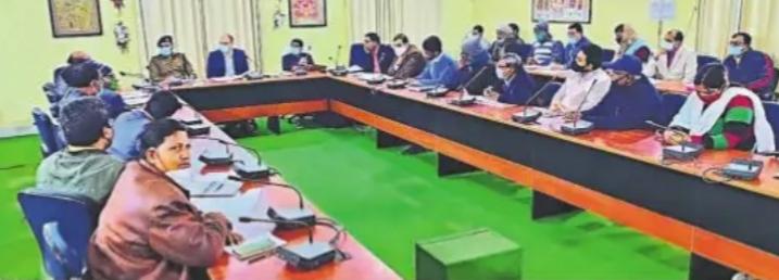 DM Meeting on 73rd Replic Day at Jhallu Babu Sabhagar, Madhepura.