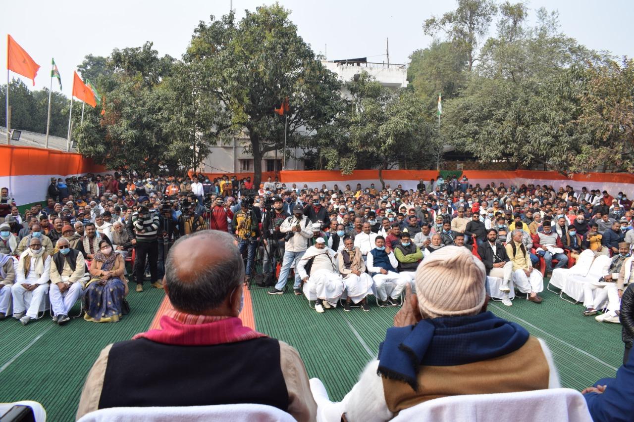 Shri RCP Singh & other JDU Leaders in Swabhiman Diwas Samaroh organised by Shri Sanjay Singh.