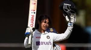 Smriti Mandhana Pink ball test scorer.