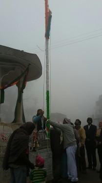 Dr.Madhepuri flag hoisting at Bhupendra Chauk, Madhepura .