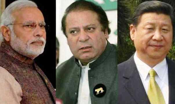 Narendra Modi, Nawaz Sharif & Xi Jinping