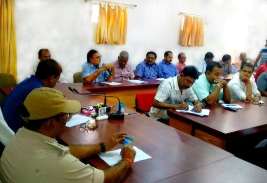 Educationist Dr.Bhupendra Madhepuri , Md.Sohail (IAS), Vikas Kumar (IPS) & others attending Hindi Diwas 2017, Samaroh at Samaharnalaya Madhepura.