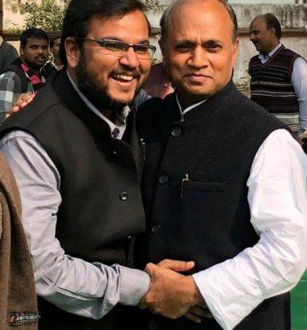 Dr. Amardeep with Shri RCP Singh