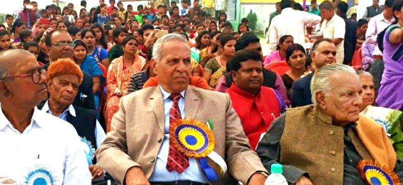 Founder Vice-Chancellor (BNMU) & Former MP Dr.R.K.Yadav Ravi , Vice-Chancellor (BNMU) Dr.A.K.Ray , Pro.VC Dr.K.K.Mandal , Dr.B.Rana , Dr.Vikram Rana and others attending a function at Gyan Bhumi , Madhepura.