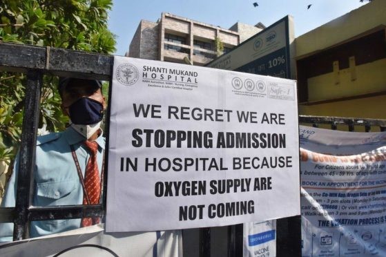 no oxygen and no bed